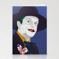 jack nicholson Stationery Cards featuring Joker Nicholson by FSDisseny