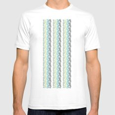 Blue and mint floral Mens Fitted Tee White MEDIUM