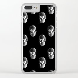 Skulls Pattern Clear iPhone Case