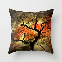 japanese Throw Pillows featuring Japanese by Philippe Sainte-Laudy