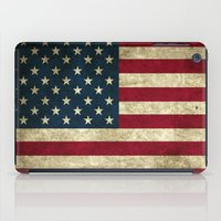 american flag iPad Cases featuring American Flag by Abbie :)