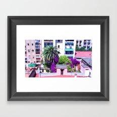 Barcelona Yard Framed Art Print