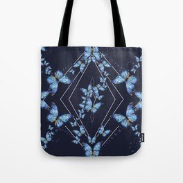 Insecta Pattern - Blue Morpho Tote Bag