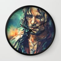 lotr Wall Clocks featuring Elessar by Alice X. Zhang