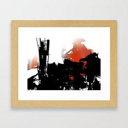 city aura Framed Art Print
