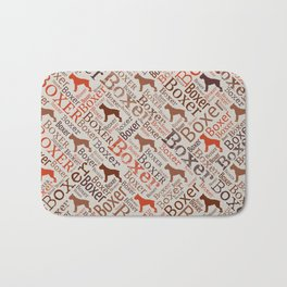 Boxer dog Word Art Bath Mat