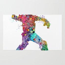 Baseball Softball Catcher 3 Art Sports Poster Rug
