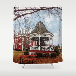 Iron County Courthouse and Gazebo Shower Curtain