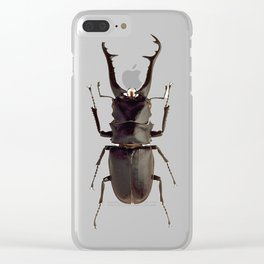 Stag Beetle Clear iPhone Case