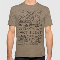 Lets Get Lost (Bw) Tri-Coffee MEDIUM Mens Fitted Tee