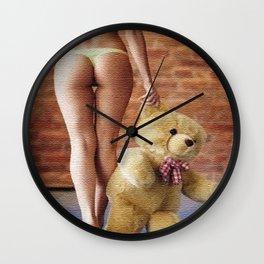 Lingerie and Teddy bear Wall Clock