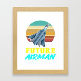 jet future airman, Fighter Pilot, Jet Fighter, Air Force, Military, Airman Framed Art Print