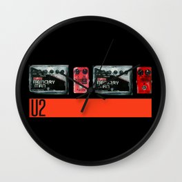 The Edge War Tour Pedalboard  Wall Clock