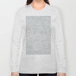White Washed Brick Wall Stone Cladding Long Sleeve T-shirt