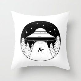 Storm Area 51 They Cant Stop All of Us Alien March Throw Pillow