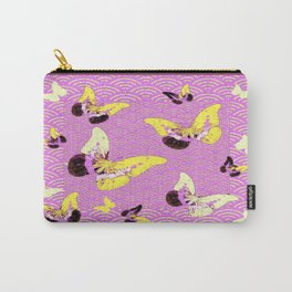 Lilac Yellow Butterflies Fantasy Abstract Pattern Carry-All Pouch
