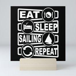 Sailing Skipper Sailing Ship Sailing Boat Yacht Mini Art Print