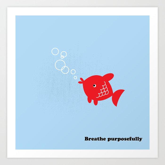 Mindfulness Tip #5 Art Print