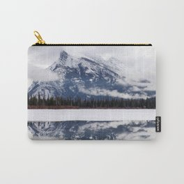 Mount Rundle reflection in Vermillion Lakes, Alberta Carry-All Pouch