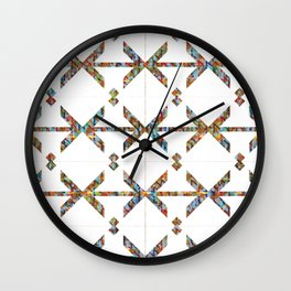 Crossing the Lines Wall Clock