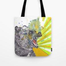Roaring Bear Animal Watercolor Painting Tote Bag
