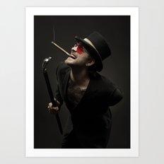 Smoking Ace Art Print