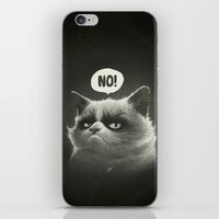 grumpy iPhone & iPod Skins featuring No! by Dr. Lukas Brezak