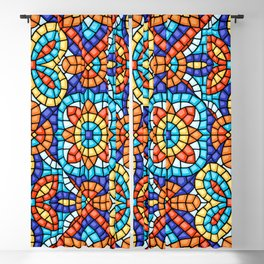 Abstract  Mosaic, ceramic, tile pattern.  Blackout Curtain