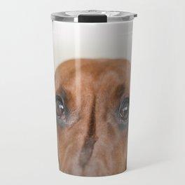 Hungry eyes for dachshund lovers Travel Mug