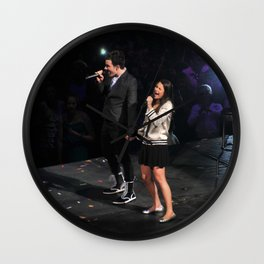 Glee Concert: Lea Michele and Chris Colfer Wall Clock