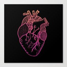 Designer Heart Colors Canvas Print