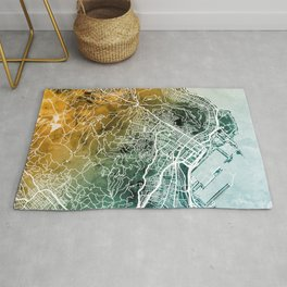 Cape Town South Africa City Street Map Rug