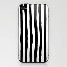 Black and White Vertical Stripes iPhone & iPod Skin