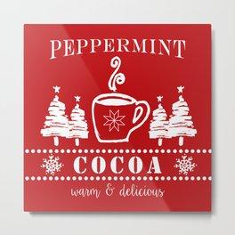 peppermint cocoa Metal Print