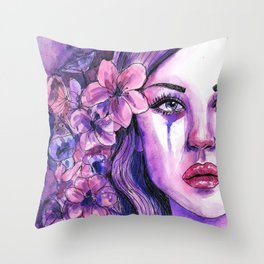 'Letting Go - Watercolour Painting Throw Pillow