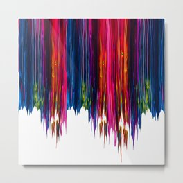 Colorful Abstract Liquid Paint VII Metal Print