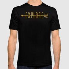 Explore (Arrow) Black MEDIUM Mens Fitted Tee