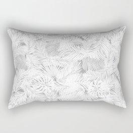 Grey Tropical leaf pattern Rectangular Pillow