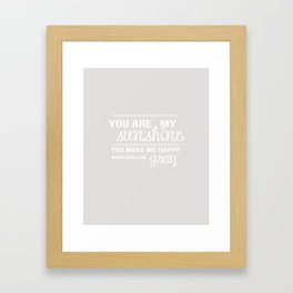 You Are My Sunshine - Minimalist Print Framed Art Print