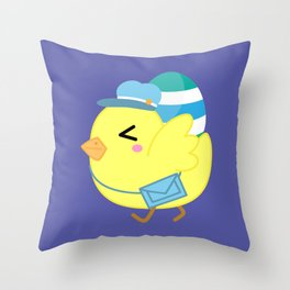 Courier Chicken Throw Pillow