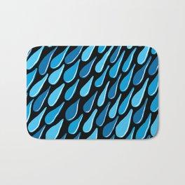 monochromatic blue aqua turquoise navy Bath Mat