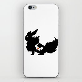 Fire Stone Black iPhone Skin