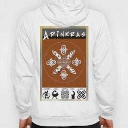 Adinkra Symbol Clock Hoody