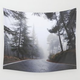 Dream forests. Into the foggy woods Wall Tapestry