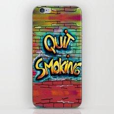 QUIT SMOKING 1 iPhone & iPod Skin