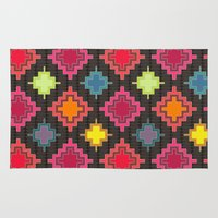 kilim Area & Throw Rugs featuring kilim bold by Sharon Turner