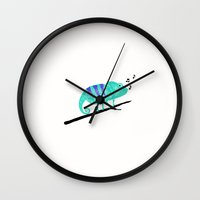 chameleon Wall Clocks featuring Chameleon by Helena's universe