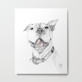 A Smile is Worth a Thousand Words :: A Pit Bull Smile Metal Print