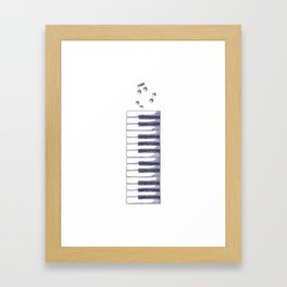 Piano Keys Keyboard Vintage Gifts Framed Art Print