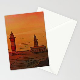 Good Morning / New and Old Lighthouse Fuencaliente La Palma Stationery Cards